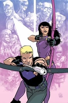 A young Kate Bishop understands the kind of man her father truly is. A wiser Clint Barton gives his all to prove that he's someone Kate can trust. This climatic story forever redefines what it means to be a part of Team Hawkeye. Marvel Comics, Marvel Comic Universe, Marvel Comic Books, Marvel Art, Comic Books Art, Comic Art, Comics Universe, Book Art, Clint Barton