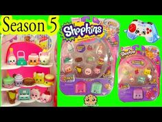 Season 5 Shopkins 12 Pack with Glow In The Dark Surprise Blind Bag + Charms - Video Cookieswirlc - YouTube
