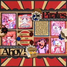 Highlights from Mickey's Pirates in the Caribbean Party aboard the Disney Fantasy. Credits: Jolly Roger by Kellybell Designs Template: Cindy Schneider Trio Pack 3 Fonts: Caribbean Pea Crystal Cruise Scrapbook Pages, Vacation Scrapbook, Scrapbook Page Layouts, Scrapbook Cards, Disney Fantasy Cruise, Disney Cruise Line, Disney Theme, Disney Style, Scrapbook Examples