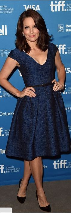 Who made Tina Fey's blue dress that she wore in Toronto?