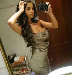 beautiful girl in tight dress