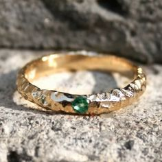 Gold and emerald ring $375