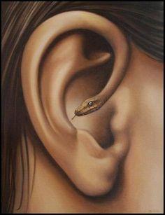 surreal art Como te afecta lo que dice los demas Surrealism Painting, Pop Surrealism, Psychedelic Art, Mago Tattoo, Surealism Art, Snake Ears, A Level Art, Fantasy Kunst, Weird Art