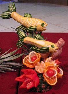 Best fruit veggie carvings amazing images food food art