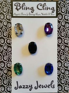 BLING CLING Jazzy Jewels Magnetic Charms by LiCocoDesigns on Etsy