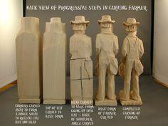 Back View of Farmer Progression ~ www.woodbeecarver.com