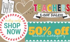 SALE!! Today Only!  All Teacher and School Wall Decals