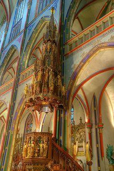 "Pulpit Inside De Krijtberg (""chalk mountain"") church in Amsterdam Amsterdam, Netherlands http://www.travelandtransitions.com/destinations/destination-advice/europe/"