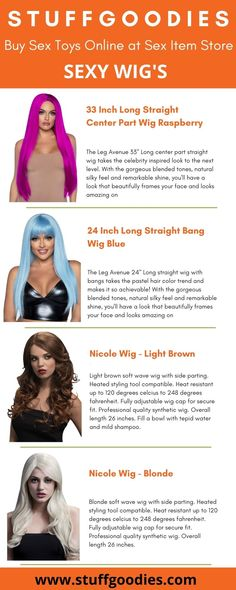 StuffGoodies has the best selection of sexy wigs for you! Here you can find sexy wigs from the greatest manufacturers, with high quality and affordable prices! Contact us on the chat online or at service stuffgoodies com to have a better shopping experience Shop with us and get your order shipped within 24 hours Inspirational Celebrities, Leg Avenue, Natural Looks, Infographics, Wigs, Sexy Women, Stuff To Buy, Shopping, Collection