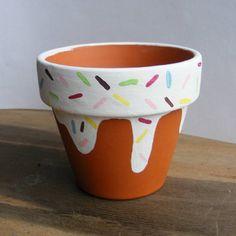 Plant Pot Small Plant Pot Hand Painted Pot Cactus Planter