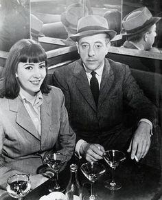 Jacques Prévert and Claudie [Carter], Paris, 1939 -by Brassaï
