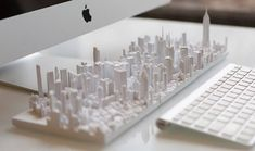 Customizable 3D Puzzle Microscape Tiles Celebrating City Skylines  Microscape is a project by William Ngo (TOWN DESIGN) and Alan Silverman (AJSNY) recently launched on Kickstarter. These are miniature sculptures reproducing the biggest citys skylines. These micro urban landscapes designed from a 3D printer are customizable tiles that celebrate the beauty of architecture. Its now possible to carry New York in the palm of your hand and bring your city everywhere in the world with you…