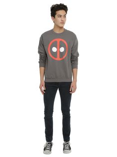 Marvel Deadpool Logo Sweatshirt, , alternate