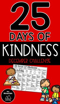 Promote kindness in your classroom using this 25 days of kindness calendar. Each day students will complete an act of kindness. A December kindness challenge.
