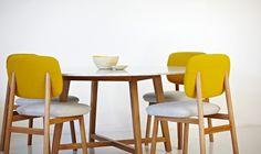 Jardan Sunday chair in Tweed Mustard and Ash