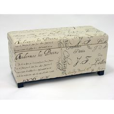 Warehouse of Tiffany Sign Flat Top Storage Ottoman Bench | Overstock.com