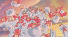 Ponyo on the Cliff Hayao Miyazaki, Studio Ghibli Art, Studio Ghibli Movies, Japanese Animated Movies, Photo Images, Girls Anime, Howls Moving Castle, My Neighbor Totoro, Animation