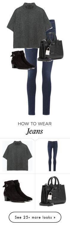 """Untitled #10443"" by alexsrogers on Polyvore featuring Citizens of Humanity, Zara and Yves Saint Laurent"