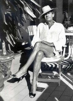 Helmut Newton photographed by wife Alice Springs.