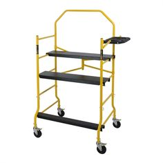 MetalTech 5-ft Jobsite Deluxe Scaffold with Tray and Safety Rail