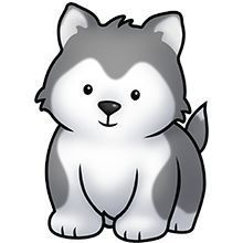 Wolf (fluff) friends Source by localwitchwoman Cute Cartoon Drawings, Cute Animal Drawings, Easy Drawings, Puppy Clipart, Cute Clipart, Chibi Manga, Husky Drawing, Baby Huskies, Rottweiler Puppies