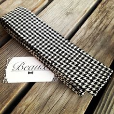 Classic houndstooth in a modern Flat-bottom self-tie Beaux necktie. Handmade with locally sourced fabrics, Vancouver BC Houndstooth, Floral Tie, Vancouver, Fabrics, Classic, Modern, Handmade, Collection, Beauty