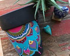 Colorful Eclectic Hand Painted Furniture & Home by BoHoExpressions Hand Painted Furniture, Saddle Bags, Etsy Seller, Colorful, Create, Unique, Diy, Painting, Home Decor