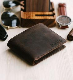🔥 This wallet is not your ordinary leather wallet out there. Its made out of top-notch full grain It Valentines Day Gifts For Him, Fathers Day Gifts, Gifts For Dad, Cool Gifts For Guys, Husband Gifts, Personalized Leather Wallet, Grave, Perfect Gift For Him, Anniversary Gifts For Him