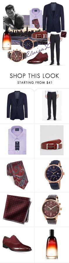 """Street style"" by elza76 on Polyvore featuring BOSS Hugo Boss, Eagle, Smith & Canova, Nordstrom, Akribos XXIV, Lucien Piccard, Mezlan, Christian Dior, men's fashion и menswear"