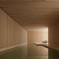 The Hardt Private house by David Chipperfield Private House by David Chipperfield Architects Architecture Decor Design Interior Design Minimal Modern patterns Wood UK pool David Chipperfield Image of Private house by David Chipperfield Indoor Pools, Wood Architecture, Architecture Details, Architecture Diagrams, Architecture Interiors, Architecture Portfolio, Contemporary Architecture, Moderne Pools, David Chipperfield Architects