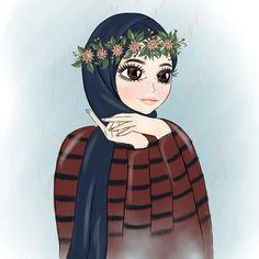 Hijab Drawing, Hijab Cartoon, Cartoon Cartoon, Anime Muslim, Cute Cartoon Pictures, Drawing Artist, Mode Hijab, Illustration Girl, Cartoon Wallpaper
