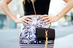 shaddup   take my money! YSL Tassel Crossbody bag Dress And Heels c5196e774b380