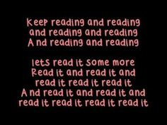 Got To Keep reading based off of Black Eyed Peas I Gotta Feelin'. We sing this during our Read-a-thon