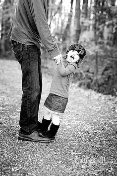 Would do this differently but love the idea of little girl standing on daddy's feet 💗