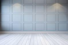 white room modern interior, light gray wall and white floor,3d rendering