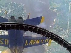 """Raw cockpit footage taken by me with a Flip Video camera during a Blue Angels Airshow.    BLUE ANGELS LIVE COCKPIT FOOTAGE: """"One of the best on YouTube""""    This Raw Blue Angels Cockpit Footage was taken over the Severn River, U.S. Naval Academy, and Andrews Air Force Base.  If you are interested in """"flying lessons,"""" this one gives you a feel for...click on the picture to watch."""