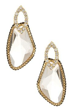 Prudence C Freeform Crystal Marquise Stud Earrings