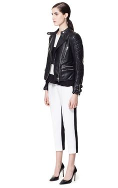 ddb55425d0a9 Image 1 of BIKER LEATHER JACKET WITH BUCKLES from Zara Leather Jackets  Online