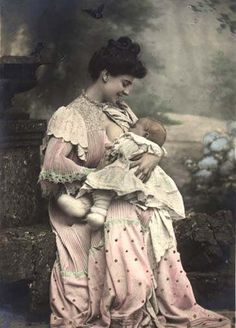 Victorian mother breastfeeding.