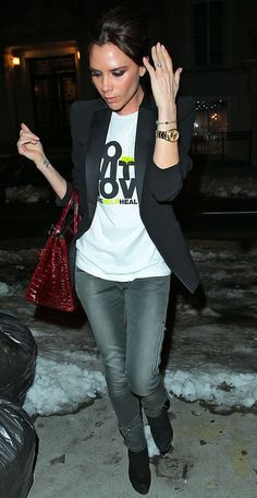 Victoria Beckham attending New York Fashion Week, February 2010