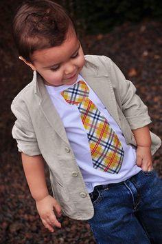 Little Man - Burberry Plaid-boys, tie, shirt, applique, bow, onesie, burberry