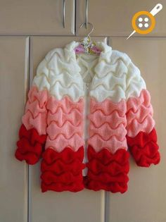 Knitted Cardigan Making with Crops How to Make Knitted Cardigan? Crochet Baby Sweaters, Baby Cardigan Knitting Pattern, Crochet Cardigan, Baby Knitting Patterns, Knitting Stitches, Knit Crochet, Baby Pullover, Knit Fashion, Diy Clothes