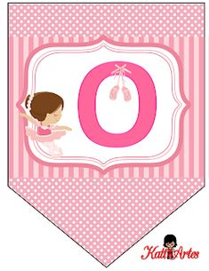 Ballerina Birthday Parties, Ballerina Party, Alphabet Crafts, Bunting Flags, Ballet Girls, Ideas Para Fiestas, Alphabet And Numbers, Baby Scrapbook, Holidays And Events