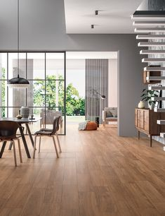 Life Oak Wood Effect Steinzeug Ceramic Wood Floors, Parquet Tiles, Casa Milano, Walnut Floors, Minimal Home, Floor Colors, Home Decor Kitchen, Beautiful Space, Home Staging