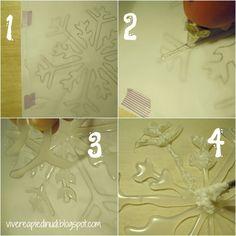 Craft & DIY decorazioni di Natale: fiocchi di neve di colla
