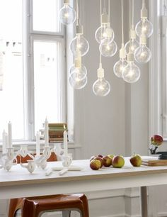 E27 has become a Muuto icon: A striking naked bulb that plays with the subtle aesthetics and simplicity of industrial design. The lamp can be used as a single light source, in pairs, rows or even in clusters to create a modern Scandinavian chandelierAvailable in 11 colour variations, E27 is adaptable to any setting, whether in the home, office or other public building.