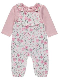 Be Floral Dungarees and Top Set , read reviews and buy online at George at ASDA. Shop from our latest range in Baby. Your little one will look simply adorabl...