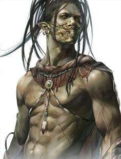 Vikorox the Half Orc Barbarian