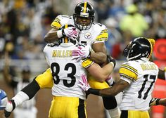 Pittsburgh Steelers--okay, so it's really my husband who loves them. :)