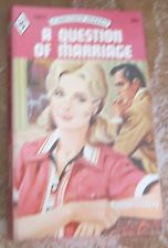 Vintage Harlequin Romance, 1667, A Question Of Marriage PB Rachel Lindsey 1973
